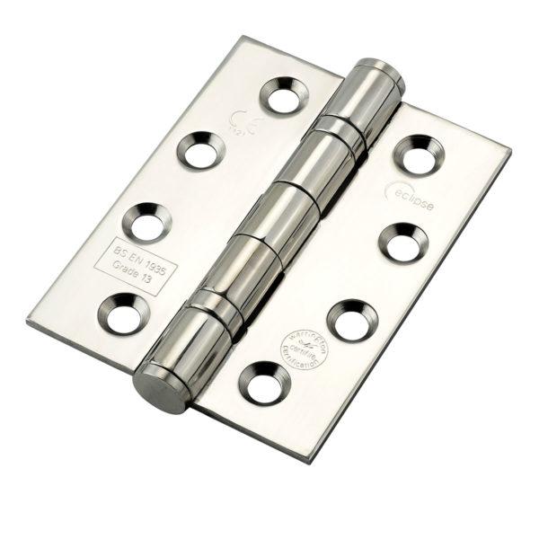 Grade 13 Fire Door Hinge - Polished Stainless Steel (pair)