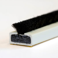 10 x 4mm Fire & smoke intumescent strip 2.1m White