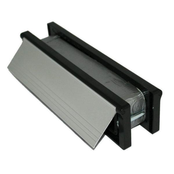 """Intumescent Letterplate 12/300mm SAA/Black"""""""